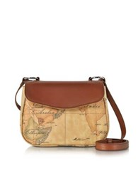Alviero Martini 1A Classe Small Geo Print Coated Canvas And Leather Crossbody Bag