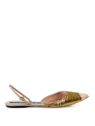 Rochas Point Toe Sequin Embellished Flats