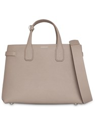 Burberry The Medium Banner In Leather And Vintage Check Neutrals