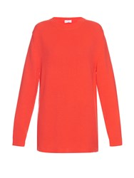 Raey Crew Neck Loose Knit Cashmere Sweater Red