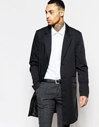 Asos Duster Coat In Black Black
