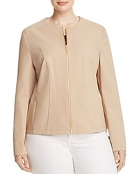 Basler Plus Fitted Twill Jacket Camel