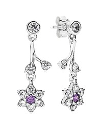 Pandora Design Pandora Drop Earrings Sterling Silver And Cubic Zirconia Forget Me Not