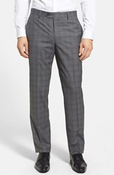 Men's Nordstrom Flat Front Wool Trousers Grey