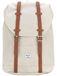 Herschel Supply Co. Double Straps Foldover Backpack Women Polyester Polyurethane One Size Nude Neutrals