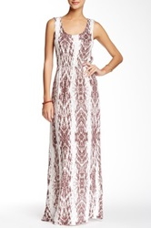 Voom By Joy Han Naomi Crochet Back Maxi Dress Brown