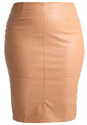 Missguided Plus Pencil Skirt Camel