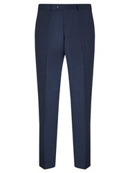 John Lewis Super 100S Wool Pindot Tailored Suit Trousers French Blue
