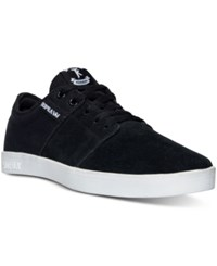 Supra Men's Stacks Ii Casual Sneakers From Finish Line Black White