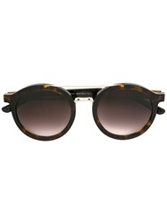 Hugo Boss Round Frame Sunglasses Brown