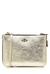 Zadig And Voltaire Metallic Leather Shoulder Bag
