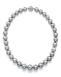 Bloomingdale's Cultured Freshwater Gray Ming Pearl Necklace 18 Gray White