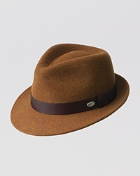 Bailey Of Hollywood Yates Fedora With Leather Band Russet Mix