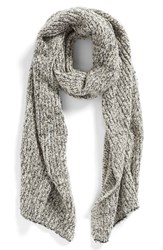 Women's Free People 'Scrabble' Knit Scarf Grey Grey Combo