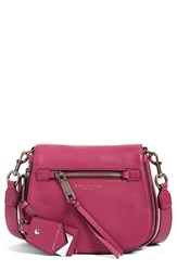 Marc Jacobs Small Recruit Nomad Pebbled Leather Crossbody Bag Pink Wild Berry