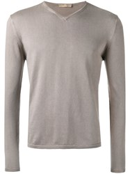 Cruciani V Neck Sweatshirt Brown