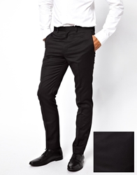 French Connection Slim Fit Tuxedo Suit Pant Black
