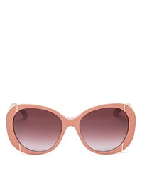 Moschino Oversized Quilted Sunglasses 56Mm Pink Gradient Lens