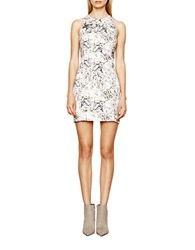 Autograph Addison Floral Print Sheath Dress Natural Grey