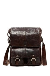 Jack Georges Spikes And Sparrow North South Genuine Buffalo Leather Messenger Bag Brown