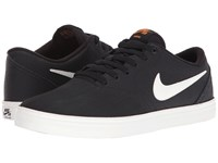 Nike Check Solar Premium Black Ivory Clay Orange Men's Skate Shoes