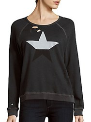 Sundry Roundneck Graphic Pullover Pigment Charcoal