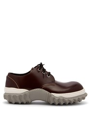 Marni Chunky Sole Leather Derby Shoes Burgundy