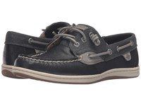 Sperry Songfish Waxy Canvas Black Women's Lace Up Moc Toe Shoes