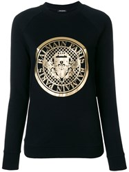 Balmain Logo Medallion Sweatshirt Black