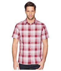 Perry Ellis Essential Plaid Pattern Shirt Rhododendron Clothing Red