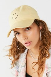 Urban Outfitters Smiley Face Baseball Hat Yellow