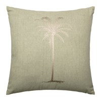 Bloomingville Green Cotton Palm Tree Cushion 45X45cm