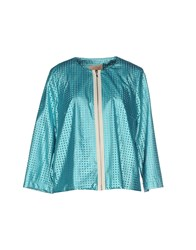 Maesta Suits And Jackets Blazers Women Turquoise