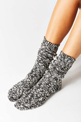 Urban Outfitters Marled Boot Sock Black