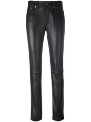Calvin Klein Jeans Skinny Leather Pants Black