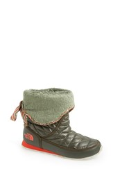 The North Face Women's Thermoball Water Resistant Boot Shiny Forest Night