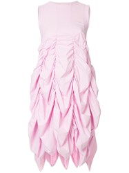 Paskal Empire Line Ruched Sleeveless Dress Pink And Purple