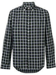 Michael Kors Collection Button Down Checked Shirt Green