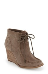 Lucky Brand Women's 'Ysabel' Wedge Chukka Boot Brindle Suede