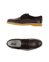 Swear London Lace Up Shoes Dark Brown