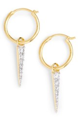 Missoma Mini Pave Spike And Hoop Earrings Gold