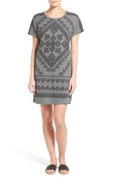 Women's Lucky Brand Placed Bandana Print T Shirt Dress