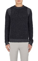 Theory Men's Cellan C Wool Sweater Navy