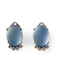 Rewind Vintage Affairs Clip On Earrings Blue