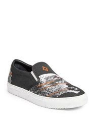 Marcelo Burlon Sham Cheetah Slip On Sneakers Black