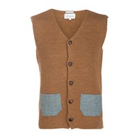 Peregrine Knitted Waistcoat Gold