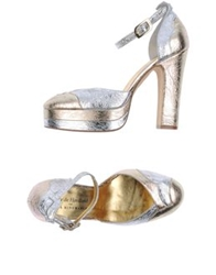 Terry De Havilland For Anya Hindmarch Platform Pumps Silver