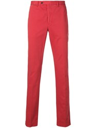 Hackett Plain Chinos Red