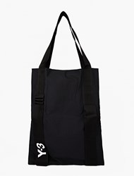 Y 3 Nylon Logo Tote Bag Black