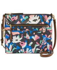 Fossil Fiona Printed Medium Crossbody Painted Floral